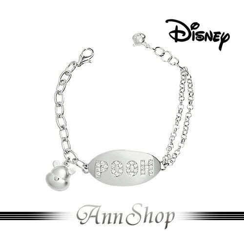 AnnShop~迪士尼Disney‧心鍊維尼手鍊~~ ~銀飾飾品  情人 S1WB924