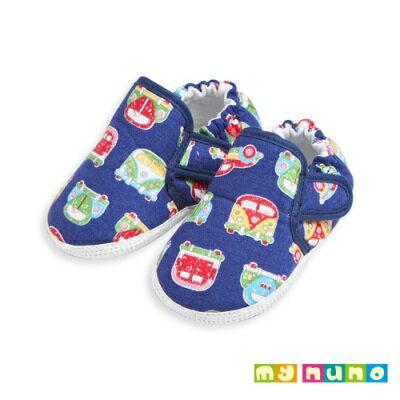 my nuno 噗噗俏皮小車輕量學步鞋 (藍色)-11.5cm
