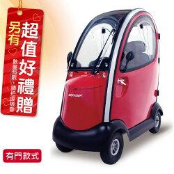 必翔 電動代步車 TE-889XLSN 全罩式車身 有門 電動代步車款式補助 贈 安能背克雙背墊