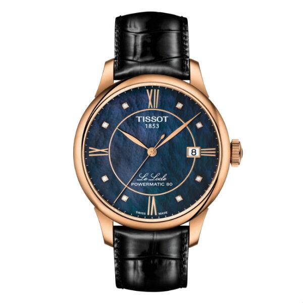 TISSOT天梭T006407361260080小時動力儲存時尚機械腕錶藍面39mm