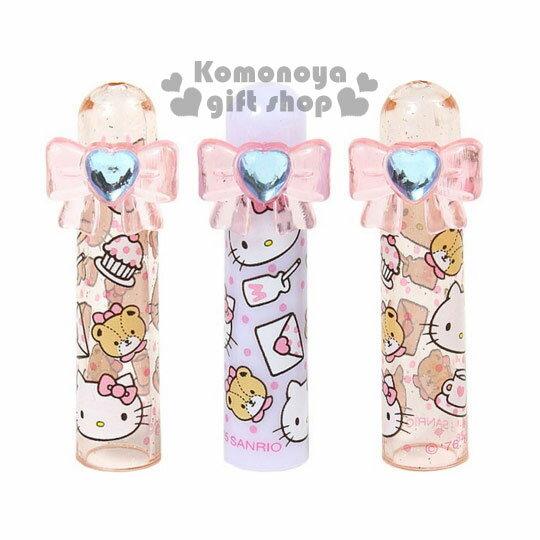〔小禮堂〕Hello Kitty 筆蓋《3入一組.粉紫.亮粉.大臉.點心.蝴蝶結造型》增加學習樂趣