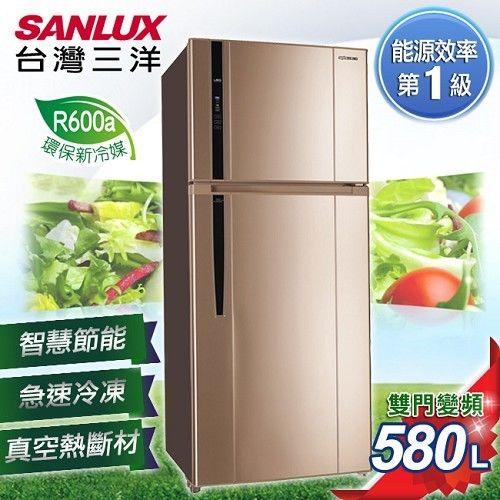 金禾家電生活美學館:【三洋SANLUX】580L雙門直流變頻冰箱/SR-B580BV