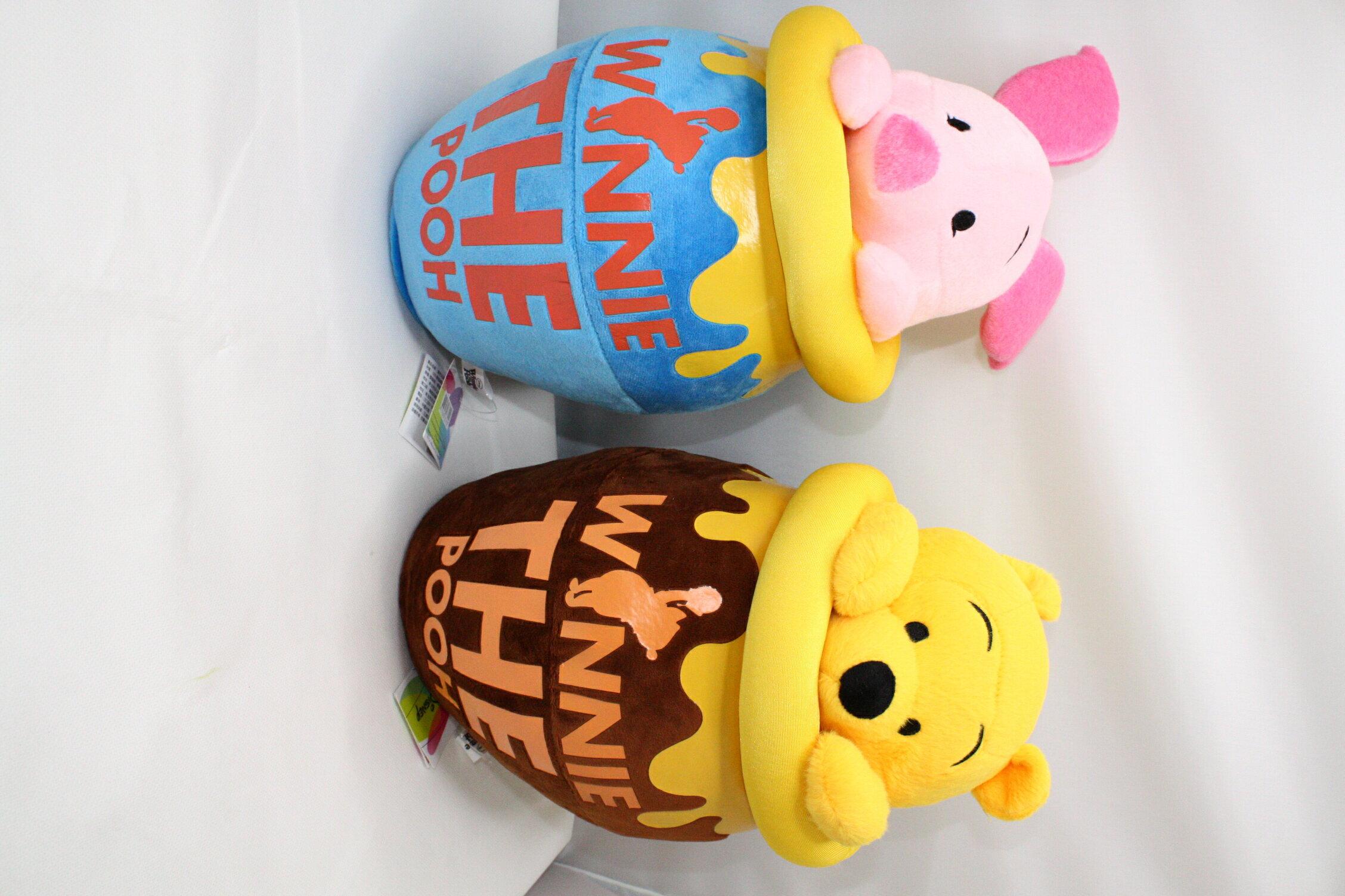 大賀屋 維尼 罐頭 抱枕 娃娃 玩偶 玩具 蜂蜜罐 迪士尼 小熊維尼 維尼熊 POOH disney 正版 授權 T00120245