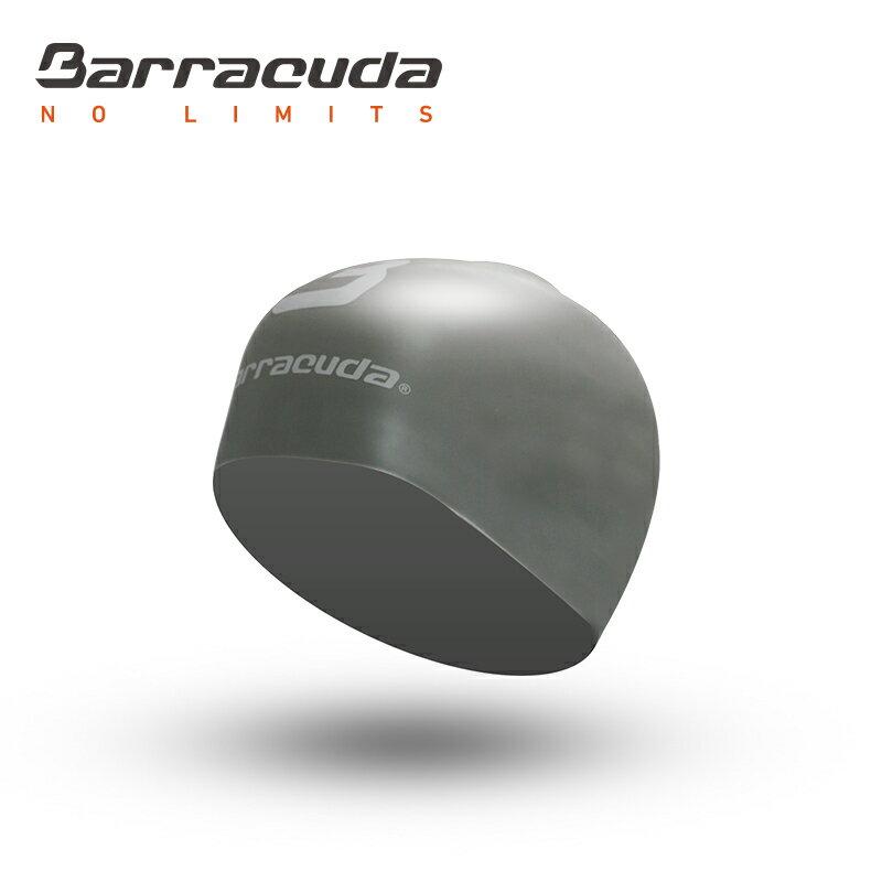 美國巴洛酷達Barracuda成人矽膠3D泳帽-銀色 - 限時優惠好康折扣