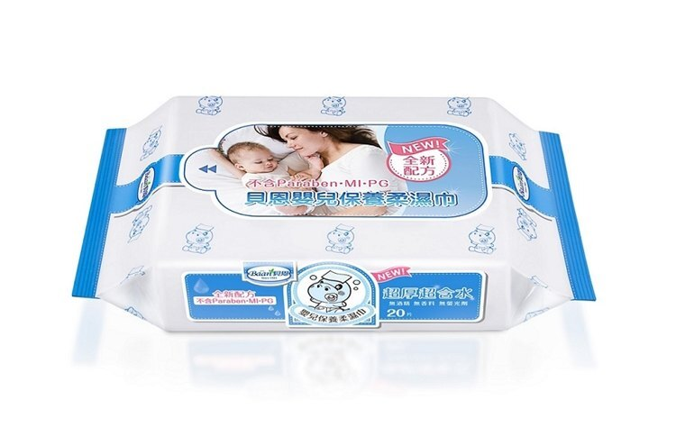 貝恩 Baan NEW嬰兒保養柔濕巾20抽/無香料【紫貝殼】