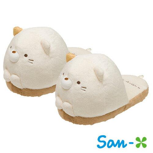 小貓款【日本進口San-X正版】 角落生物 角落公仔 拖鞋 室內拖鞋 大頭拖鞋 - 669856