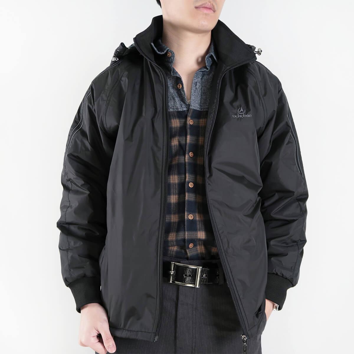內舖絨布保暖風衣外套 保暖外套 騎士外套 夾克外套 防風外套 黑色外套 FLANNEL LINED WINDBREAKER JACKETS (312-6077-21)黑色 L XL 2L(胸圍46~51英吋) [實體店面保障] sun-e 7