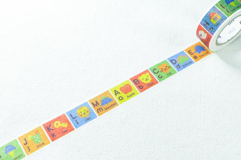 *小徑文化*日本和紙膠帶 mt for kids - 字母A-M ( MT01KID013 )