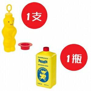 德國【Pustefix】大泡泡熊+補充液1公升 - 限時優惠好康折扣