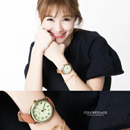手錶 風雅時尚經典簡約素面數字皮革手錶 可搭情侶錶  柒彩年代【NE1096】單支 0
