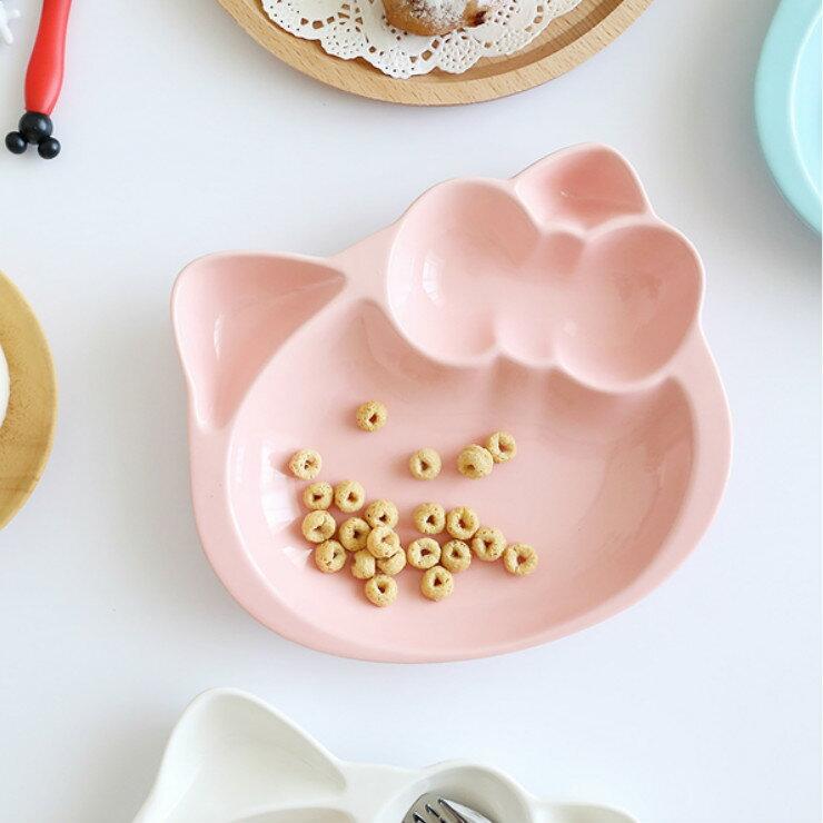 |現貨|甜蜜糖果色造型陶瓷分隔餐盤 4色 陶瓷餐盤 兒童餐盤 3