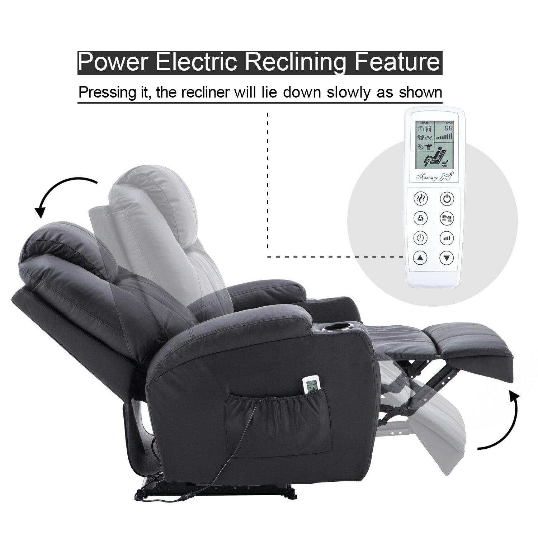 Mcombo Electric Power Recliner Massage Ergonomic Chair Vibrating