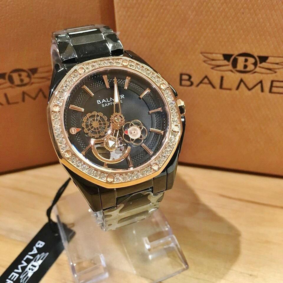 瑞士 賓馬BALMER 八角形前後簍空機械錶  女鋼錶 7981 【Watch-UN】