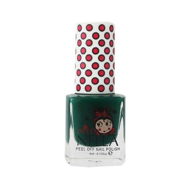英國【MissNella】妮娜小姐水性可撕式安全指甲油4ml-春遊深綠MN23兒童指甲油