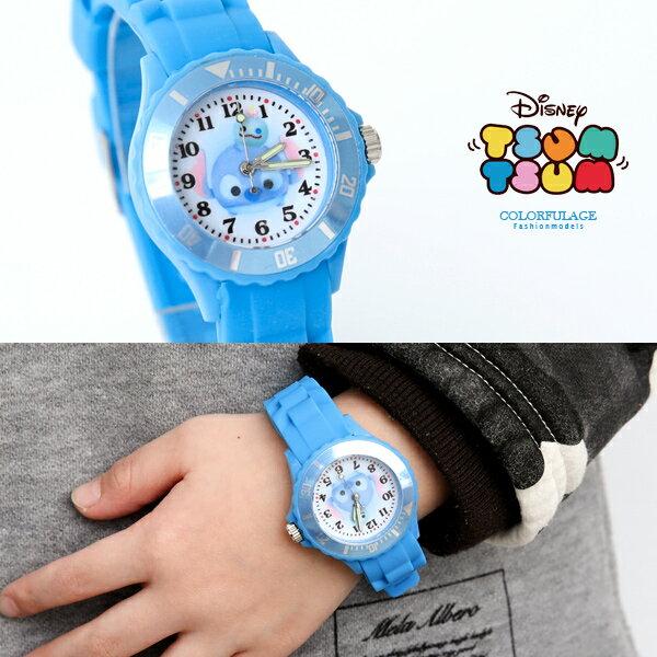 迪士尼授權史迪奇矽膠童錶【NE2025】柒彩年代