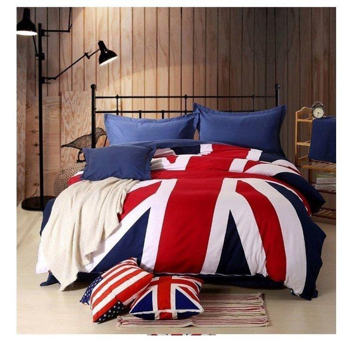 RBD001 寰宇歐洲風 大不列顛日不落風格 英國國旗夏季棉質床包4件套