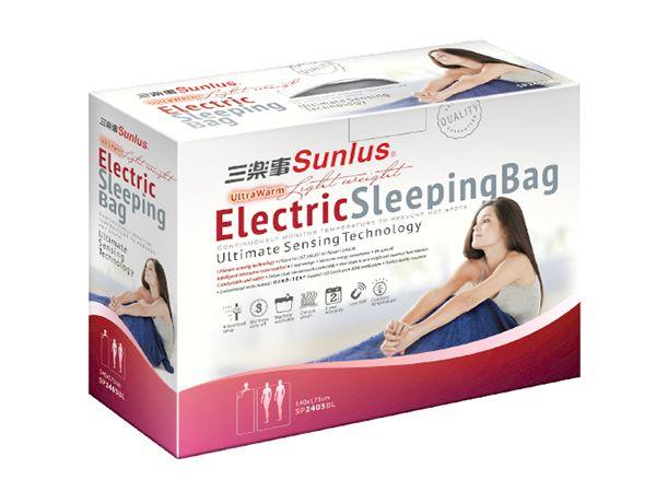 <br/><br/>  Sunlus三樂事輕巧睡袋電熱毯SP2403BL<br/><br/>