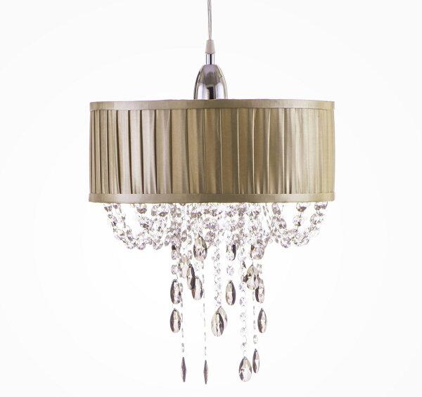 摺景香檳色棉布吊燈-BNL00009