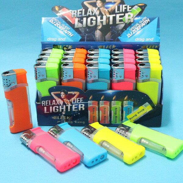 LED打火機 K-30 LED燈防風打火機(新主張/粉彩/充填式)/一個入{定20}