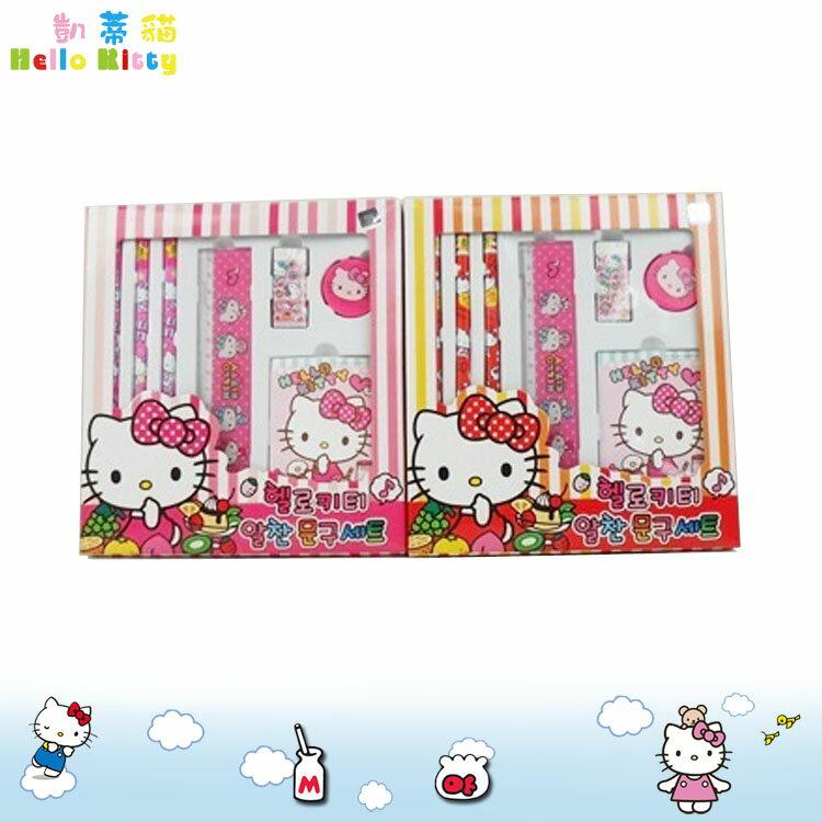 大田倉 韓國進口正版 凱蒂貓 Hello Kitty 三麗鷗 文具組 鉛筆 尺 橡皮擦 筆記本 隨機出貨 251561