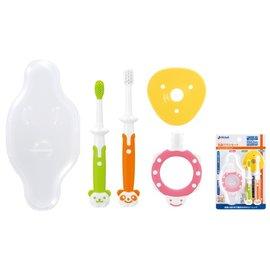 【淘氣寶寶】日本 Richell 利其爾 乳牙訓練牙刷套組