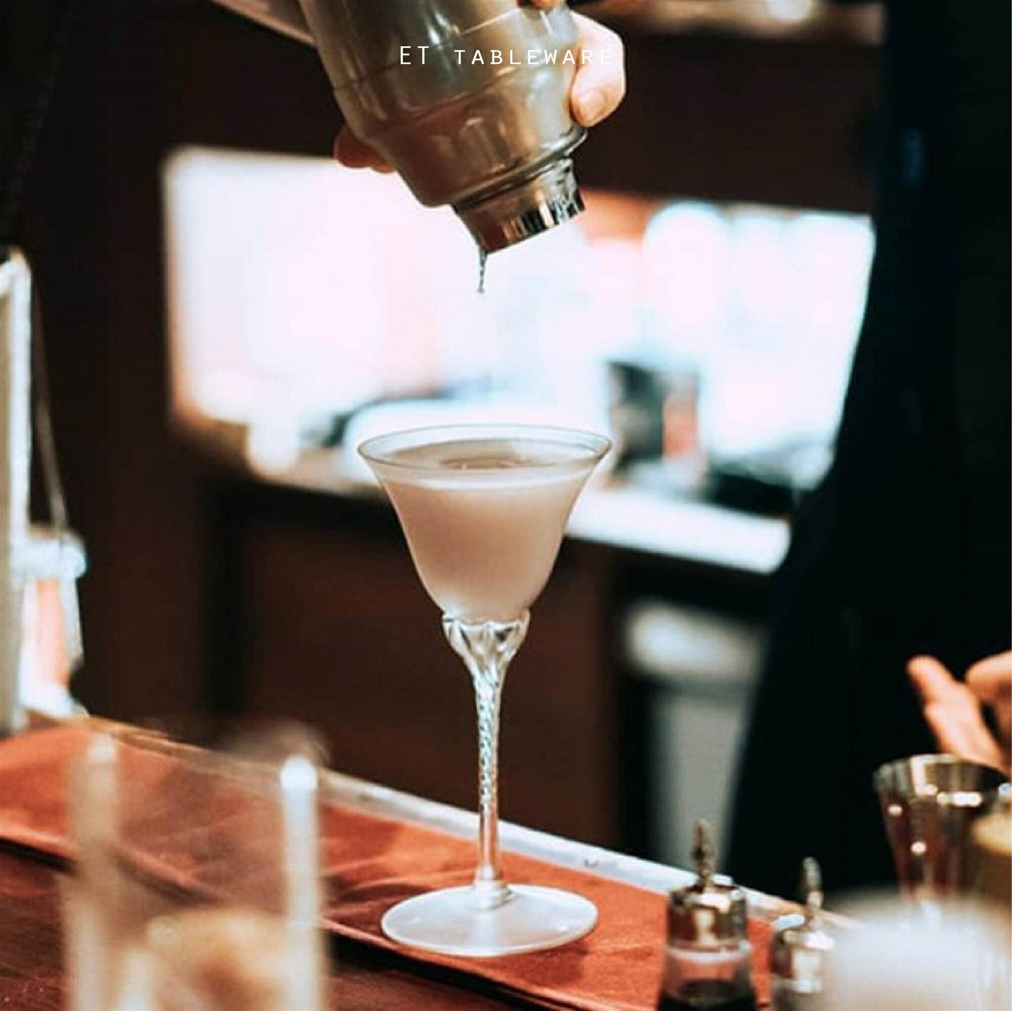 古典麻花桿 100ml 雞尾酒杯|6入.外星人餐具 雞尾酒杯 香檳杯 甜酒杯 高腳杯 果酒杯 調酒杯 強化玻璃杯