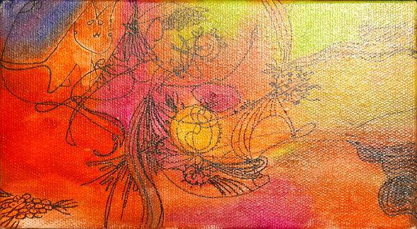 聚鯨Cetacea﹡Art【張玉歆—Lineout】複合媒材原作抽象畫無框畫經銷販售