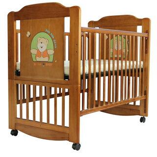 【美國 L.A. Baby】布魯克林三階段嬰兒木床/成長大床/童床(0歲-10歲幼童皆適用)咖啡色)(贈全罩式蚊帳)