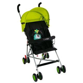 【美國 L.A. Baby】亮彩輕便嬰兒手推車(炫彩綠)