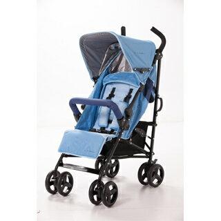【美國 L.A. Baby】時尚輕便嬰兒手推車(藍色)