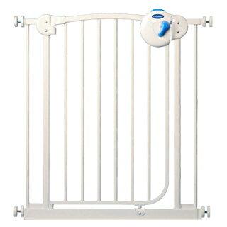 【美國 L.A. Baby】雙向自動上鎖安全鐵門欄(三道安全鎖裝置)純淨白