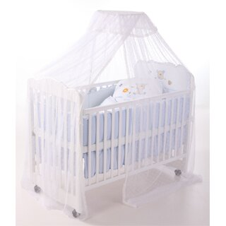 【美國 L.A. Baby】豪華全罩式嬰兒床蚊帳(加大加長型)高雅婚紗白