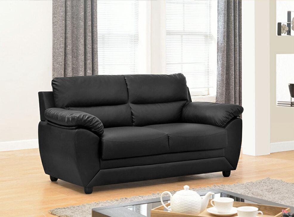 !新生活家具! 皮沙發《星空》黑色 辦公沙發 出租套房 組椅 二人座沙發 雙人沙發 工廠直營 非 H&D ikea 宜家