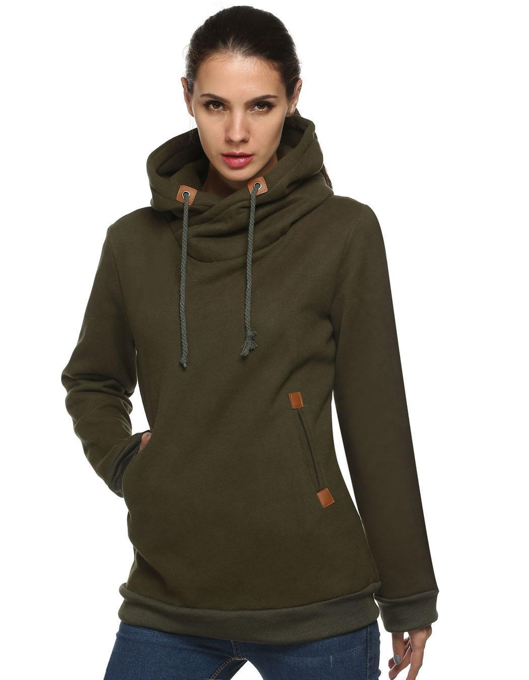 Women Long Sleeve Casual Pullover Hooded Sweatershirt Hoodies 0