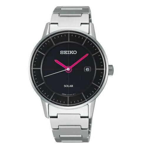 SEIKO 日系極簡美學太陽能時尚腕錶