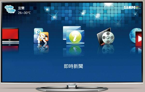 SAMPO 聲寶 50吋 LED液晶顯示器 EM-50NT15D/HD解析度/聲寶i家庭/1.5G雙核心