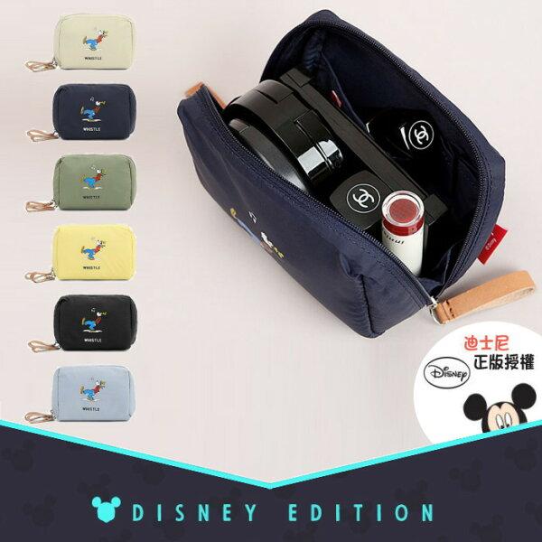【韓國直送】正韓le-junev迪士尼正版高飛狗化妝包(小)收納包手提包NO.M0007