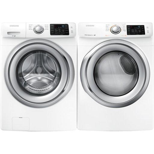 SAMSUNG WF42H5200WPR White Front Load Washer & Dryer Pair 4da0dc1f165ebc5da8f781c0a48f9c4a