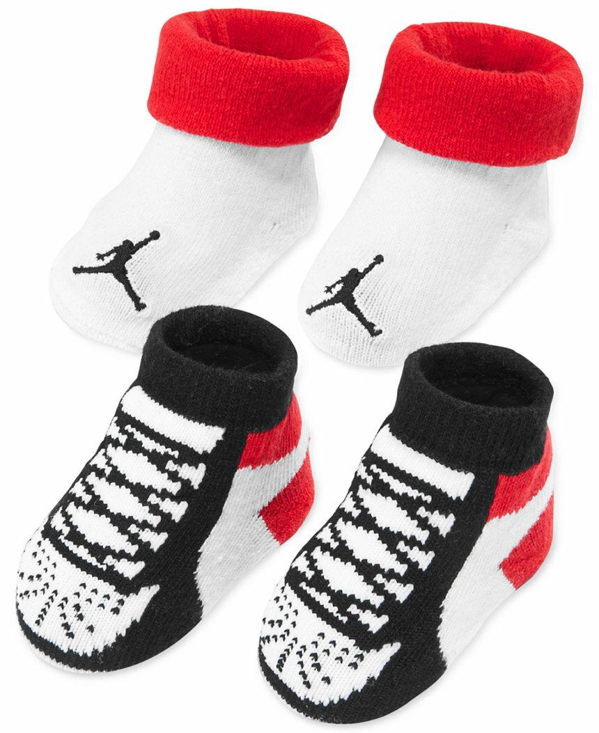《★美國NIKE Jordan新生兒襪子禮盒組 2雙入》彌月 滿月禮首選 美國專櫃正品代購 平行輸入 溫媽媽