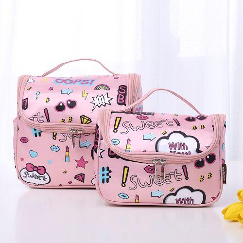 ✤宜家✤韓國簡約便攜旅遊出差洗漱包 (卡通大號) 旅行化妝包 收納包 大容量多功能