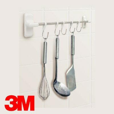 3M 17656 無痕廚房收納系列【多功能排鉤】