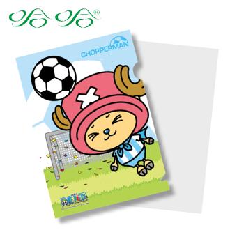 L型文件夾 L夾- 喬巴足球版 ( LF-002 ) 日本動漫 航海王 海賊王 正版授權 哈哈書套