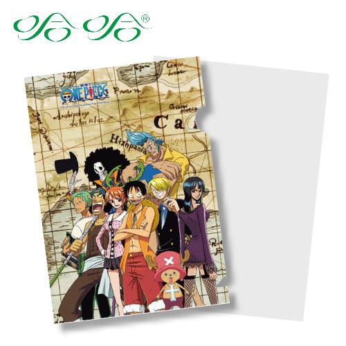 L型文件夾 L夾- 尋寶版 ( LF-007 ) 日本動漫 航海王 海賊王 正版授權 哈哈書套