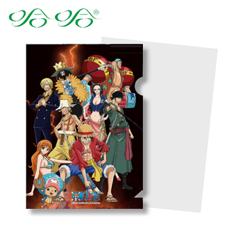 L型文件夾 L夾- 閃電版 ( LF-012 ) 日本動漫 航海王 海賊王 正版授權 哈哈書套