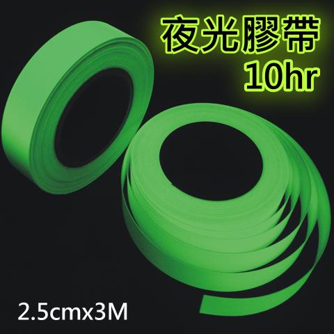 [ FG710 ] 10小時蓄光節能夜光安全膠帶 ( 25mm X 3M ) - 適用居家安全,貼於地面、階梯、建物、門檻…等,守護您夜間安全的小幫手