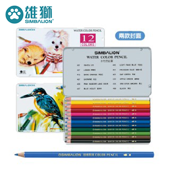雄獅 WP-12 水性色鉛筆12色組