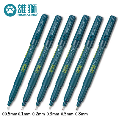雄獅 DP-54 黑色代針筆 ( 0.1mm / 0.2mm / 0.3mm / 0.5mm 0.8mm )