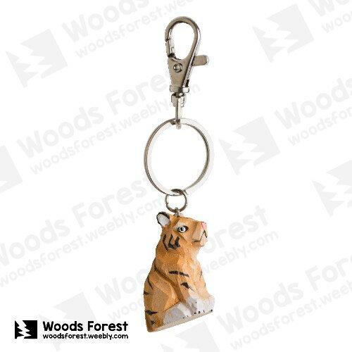 Woods Forest 木雕森林 - 木雕鑰匙圈【老虎】(WF-K06)
