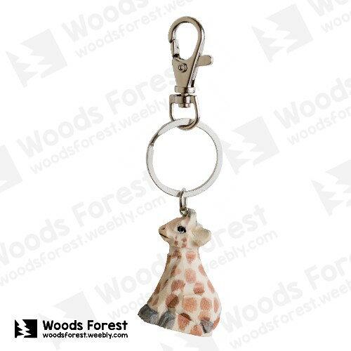 Woods Forest 木雕森林 - 木雕鑰匙圈【長頸鹿】