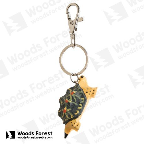 Woods Forest 木雕森林 - 木雕鑰匙圈【星龜】